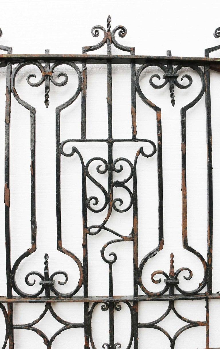 19th Century  Antique English Wrought Iron Garden / Pedestrian Gate For Sale