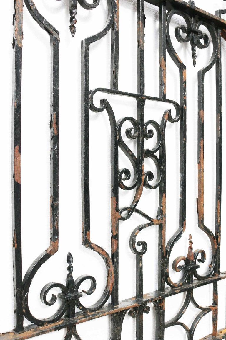 Antique English Wrought Iron Garden / Pedestrian Gate For Sale 1