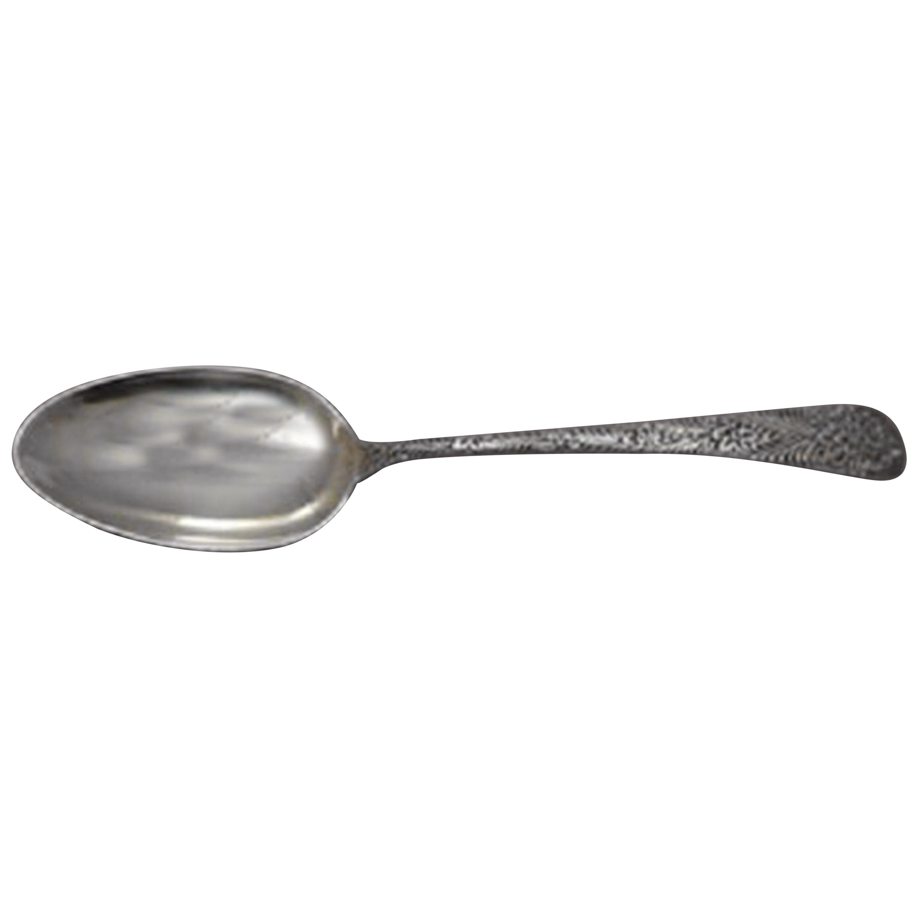Antique Engraved by Tiffany & Co Sterling Silver Teaspoon