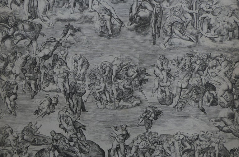 Antique Engraving 'the Last Judgement from the Sistine Chapel' For Sale 1