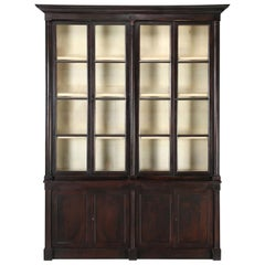 Antique Époque French Empire Bookcase or Bibliothèque Fully Restored, 1800-1829