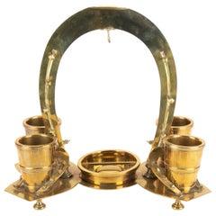 Antique Equestrian Brass Dresser Valet/ Watch Display