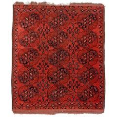 Antique Ersari Turkmen Square Rug