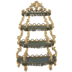 Antique Etagere in Painted Wood, Venetian Baroque, Italy, 19th Century