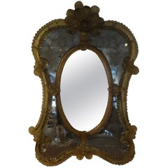 Antique Etched Venetian Mirror