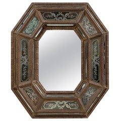 Antique, Etched, Venetian Mirror