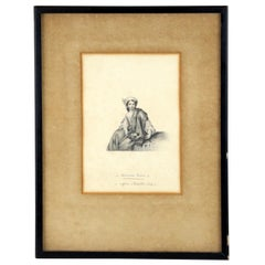 "Antique Etching ""Spanish Girl"""