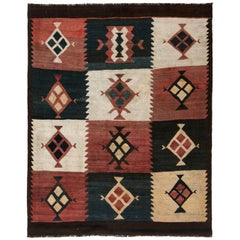 Antique Etno Turkish Kilim Rug