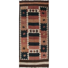 Antique Etno Turkish Kilim Rug