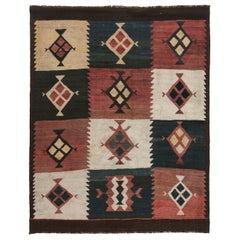 Antique Etno Turkish Kilim Rug in Warm Earthy Tones