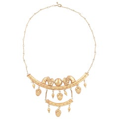Antique Etruscan Revival Gold Necklace
