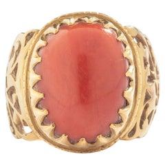 Antique Etruscan Revival Yellow Gold 18 Karat Ring
