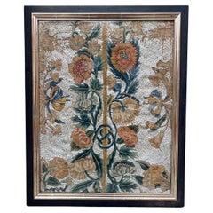 Antique European 17th Century Embroidery Fragment