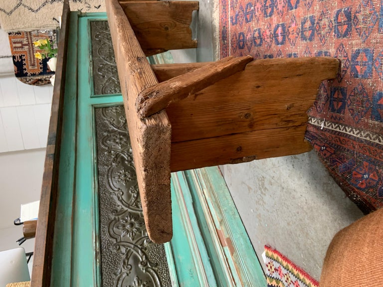Hand-Crafted Antique European Bench For Sale