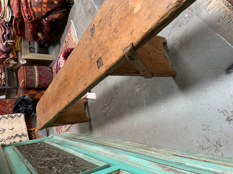 Antique European Bench In Distressed Condition For Sale In Los Angeles, CA