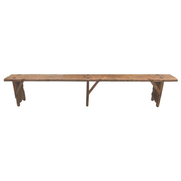 Antique European Bench For Sale