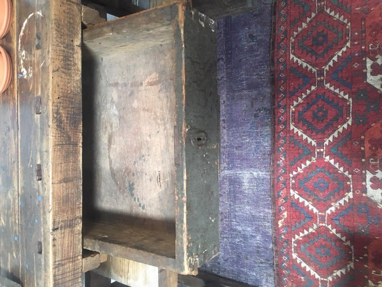 Antique European Carpentry Table In Good Condition For Sale In Los Angeles, CA