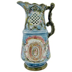 Antique European Majolica Pitcher