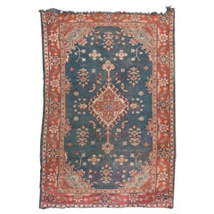 Antique European Oushak Hand Knotted Rug