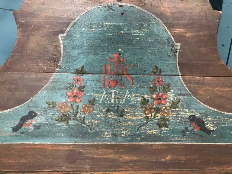 Italian Antique European Painted Children's Bed For Sale