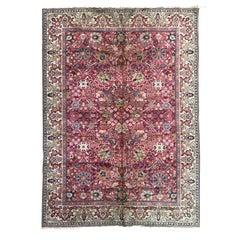Antique European Persian Design Knotted Rug