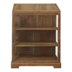 Antique European Slant Front Store Display Cabinet