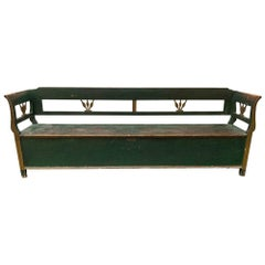 Antique European Storage Bench