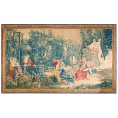 Antique European Tapestry Rug