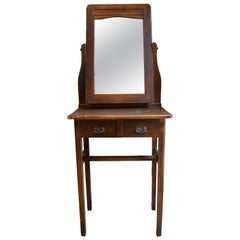 Antique European Vanity and Mirror