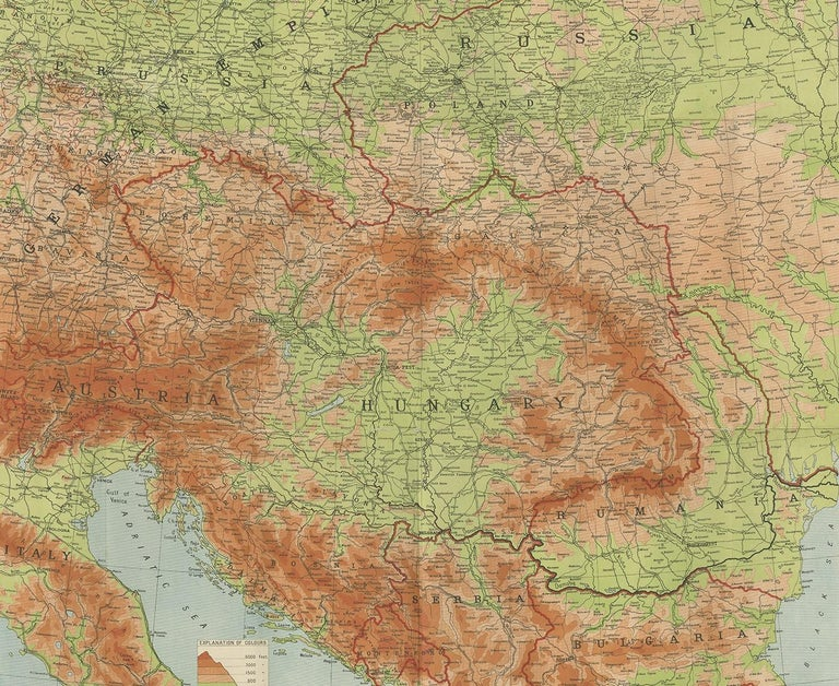 20th Century Antique European War Folding Map, 'circa 1915' For Sale