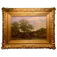 Antique Exceptional Belgian Landscape circa 1837 Signed Lokhorst Oil on Canvas