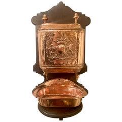 Antique Exceptional Copper Lavabo, circa 1860-1880