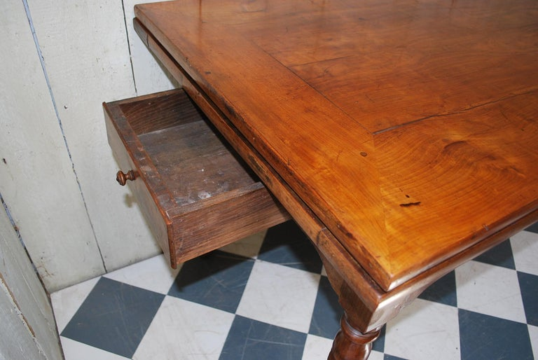 Antique Extending Cherry Wood Farmhouse Kitchen Dining Table