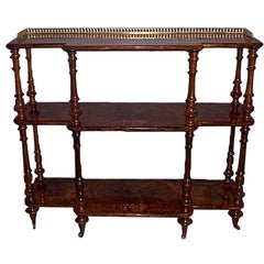 Antique Extraordinary Quality English Étagère