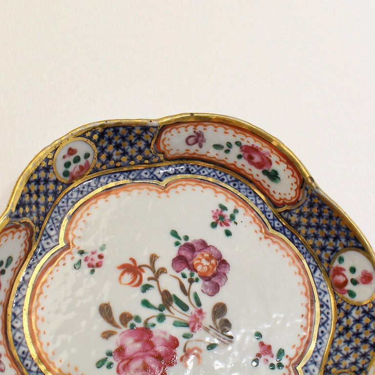 Antique Famille Rose Chinese Export Porcelain Bowl or Dish For Sale 6