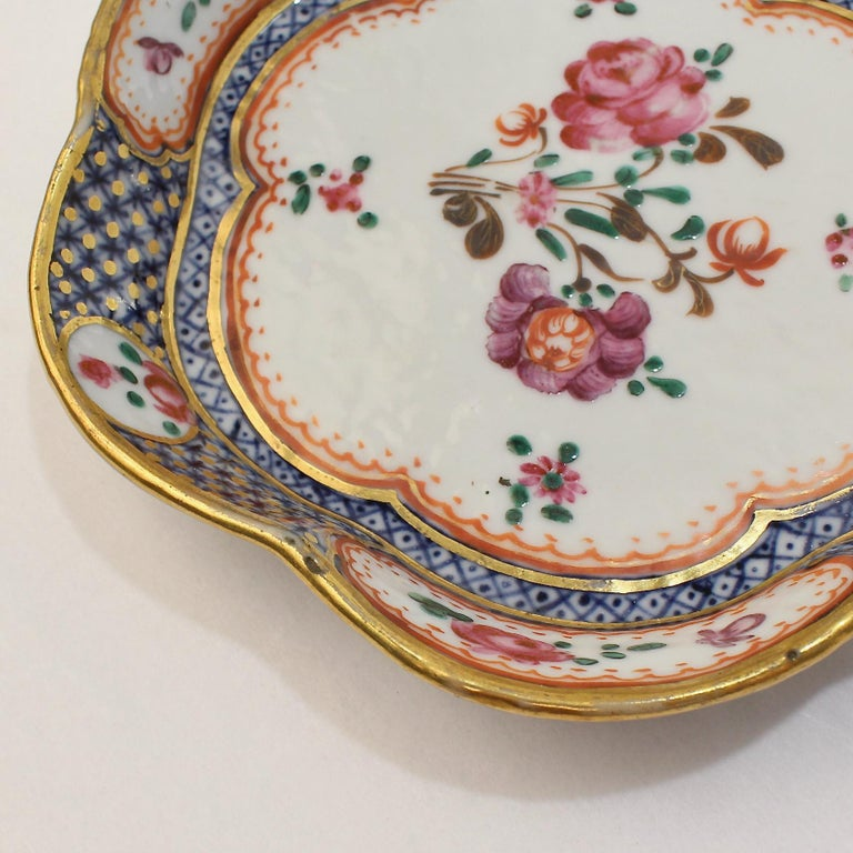 Antique Famille Rose Chinese Export Porcelain Bowl or Dish For Sale 4
