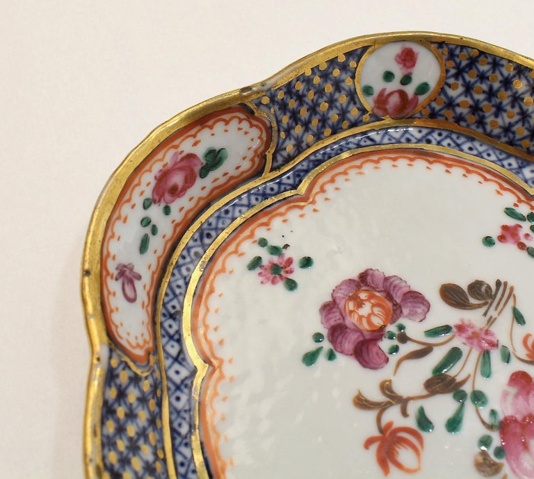 Antique Famille Rose Chinese Export Porcelain Bowl or Dish For Sale 5