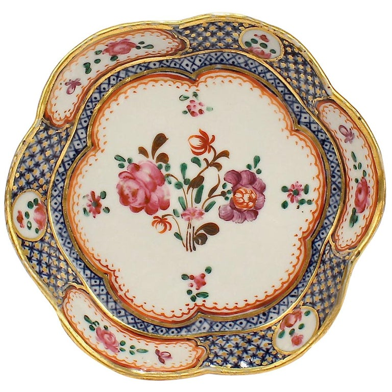 Antique Famille Rose Chinese Export Porcelain Bowl or Dish For Sale
