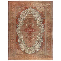 Antique Persian Farahan Rug. Size: 10 ft 8 in x 14 ft 5 in (3.25 m x 4.39 m)