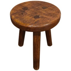 Antique Farm Stool, 1950s