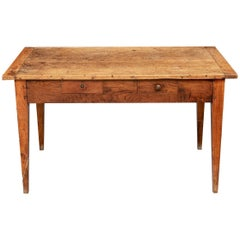 Antique Farm Table with Breadboard Top