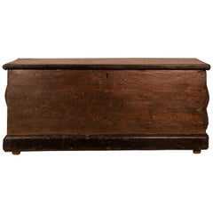 Antique Faux Bois Sea Chest, circa 1860
