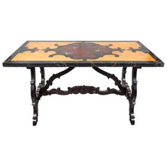 Antique, Faux Marble, Painted Table