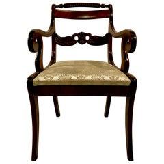 Antique Federal Design Mahogany Desk Chair, circa 1890