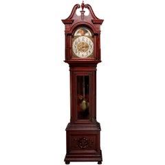 Antique Federal Tiffany & Co., NY Moon Phase Mahogany Long Case Clock circa 1900