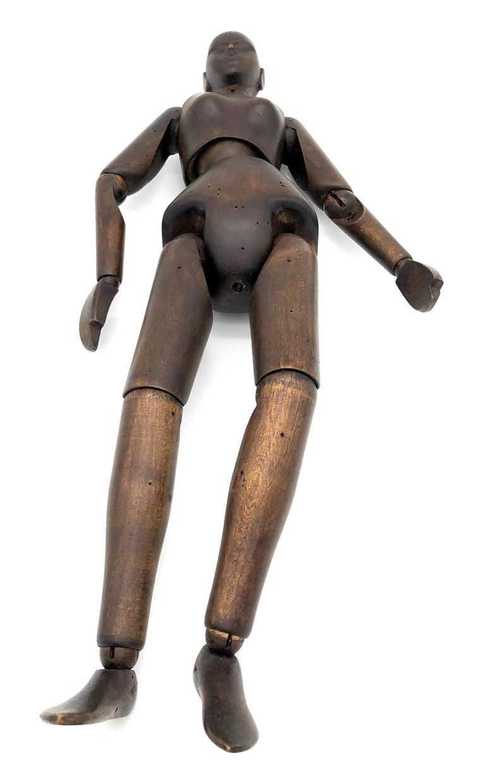 Antique Female Artist Mannequin Figure Sculpture Lime Tree, France For Sale 1