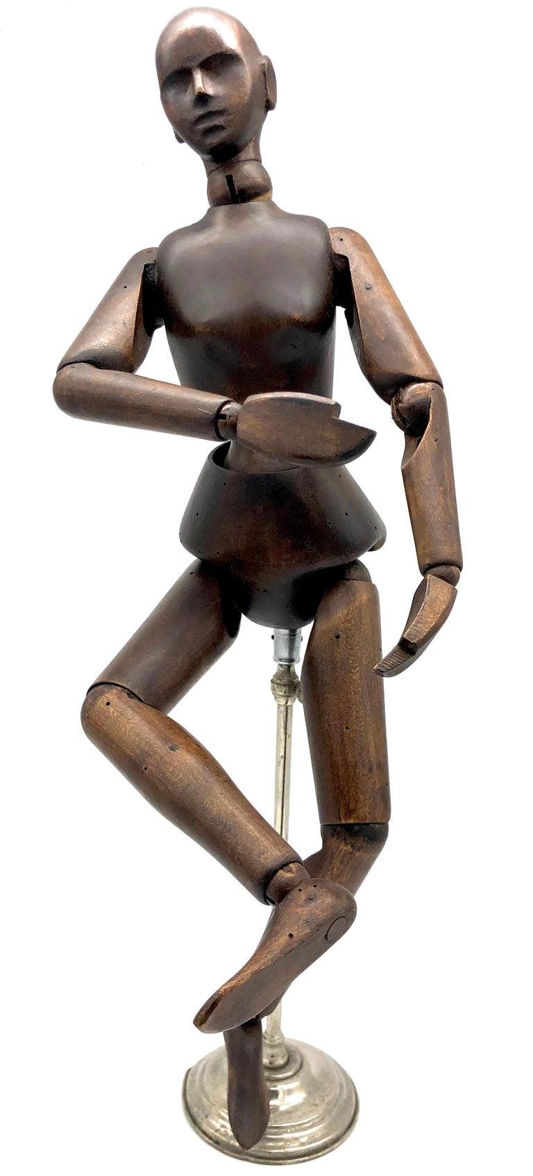 Antique Female Artist Mannequin Figure Sculpture Lime Tree, France For Sale 2