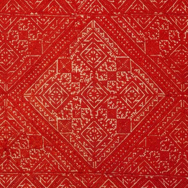 Antique Fez Embroidery From Morocco, 1900s For Sale At 1stdibs