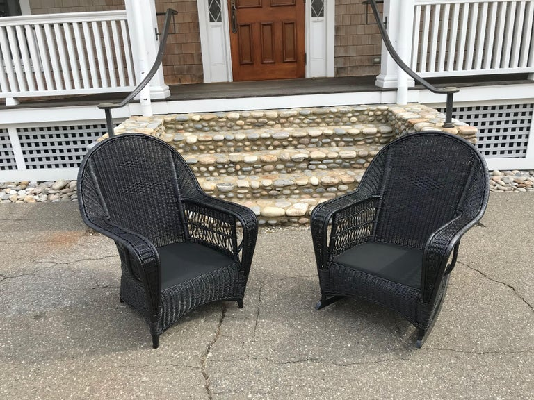 Antique Ficks Reed Wicker Set In Good Condition For Sale In Old Saybrook, CT