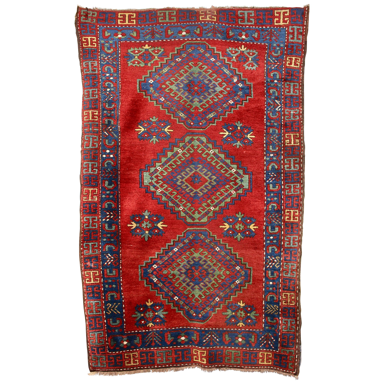 Antique, Fine, Caucasian Carpet, Rug, Hand Knotted